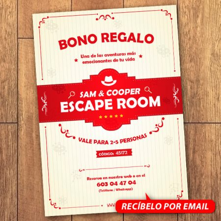 Bono Regalo Escape Room 5 Personas