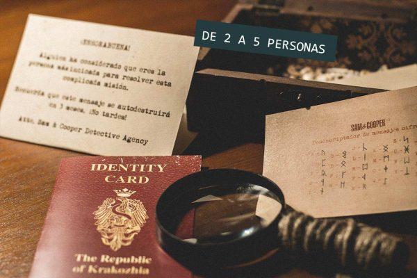 Regalo Kit Detectives Escape Room 5 personas