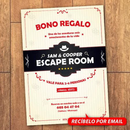 Bono Regalo Escape Room 6 Personas
