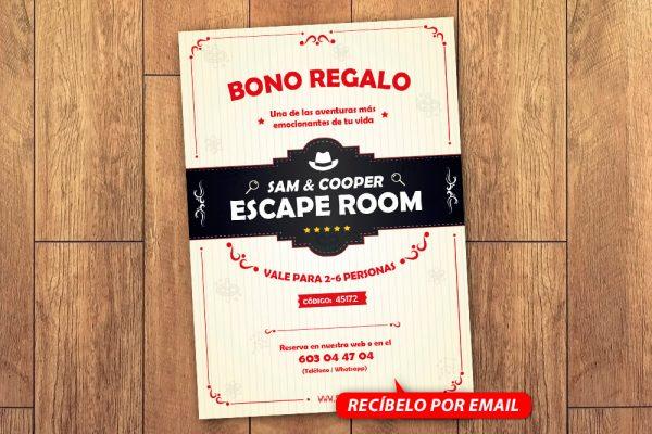 Bono Regalo Escape Room 6 Personas