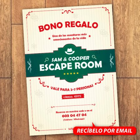 Bono Regalo Escape Room 7 Personas