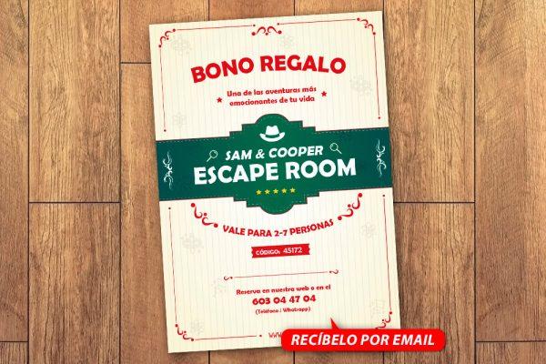 Bono Regalo Escape Room 7 Personas