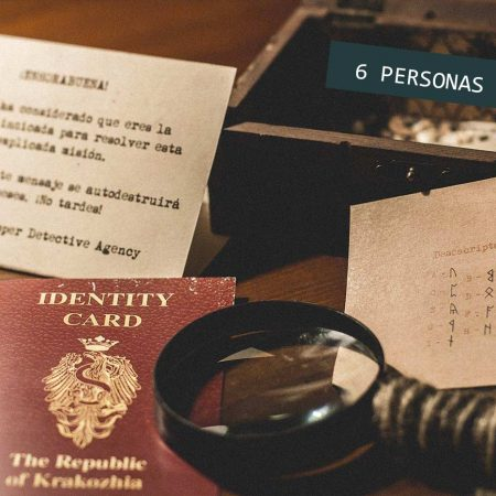 Regalo Kit Detectives Escape Room 6 personas