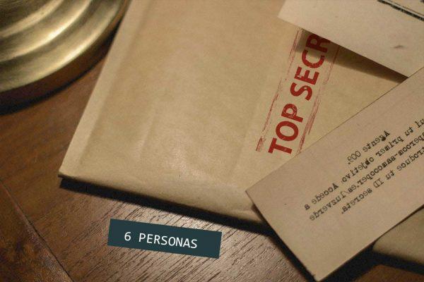 Regalo escape room kit top secret 6 personas